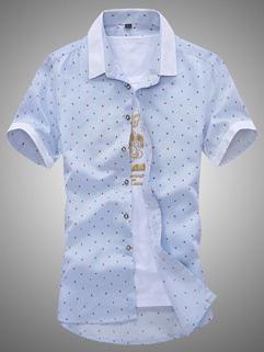Cheap Summer Star Printing Casual Shirt