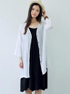 Cheap Long Sleeve Solid Color Sunproof Coat
