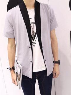 Casual Korean Color Block Street Style Coats