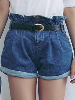Wholesale Korean High Waist Short Jeans
