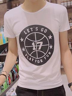 Wholesale Korean Letter Printing Preppy Style T-Shirt