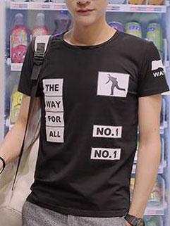 Cool Fashion T-Shirt NO.1 Pattern Casual T-Shirt