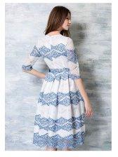Noble Euro Style Lace White Dresses