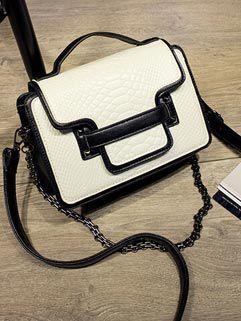 Chic Korean Color Block Shoulder Bags
