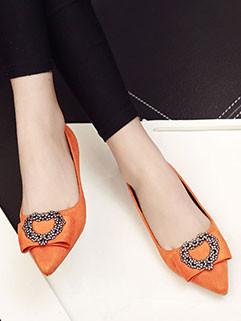 Elegant Fashion Bow Chunky Heels Flats