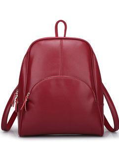 Korean All Match Zipper Backpack Bag