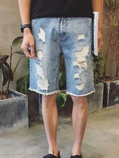 Hot Selling Korean Hole Half Jeans
