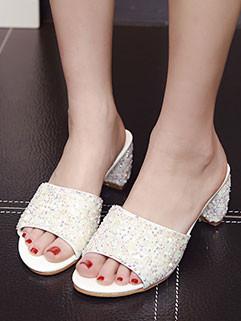 Bohemia Style Sequins Peep Toe Slipper