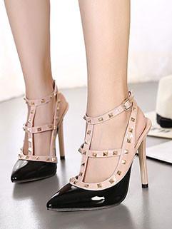 Euro Fashion Rivets Pointed Toe Sandal