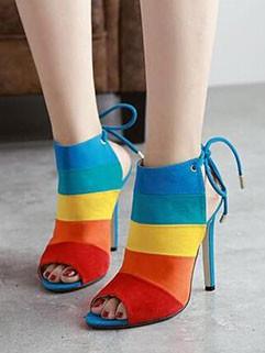 Elegant Fashion Bandage Striped Stiletto Pumps