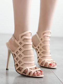 Elegant Fashion Peep-toe Patchwork Stiletto Pumps