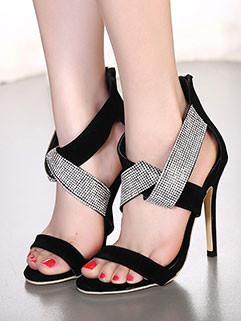 European And American Style Diamond Stiletto Pumps