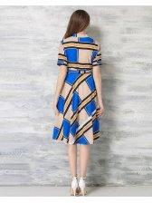 Korean Summer Plaid Slim Fashion Dress