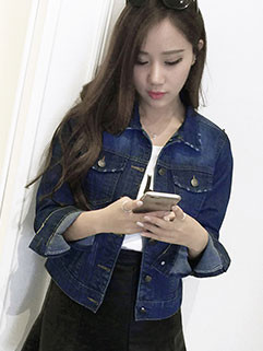 Classical Fashion Skinny Long Sleeve Denim Coat