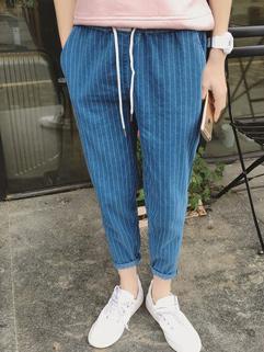 Hot Selling Korean Striped Long Pants
