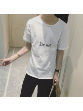 Japan Fashion Letter All Match Men Tee