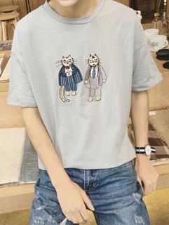 Cute Fashion Cartoon Printed Casual T-Shirts