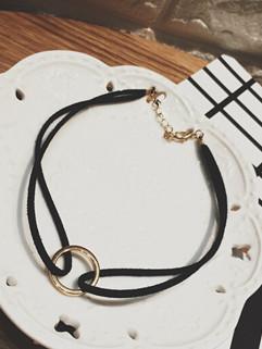 Japan Vintage Metal Round Ring Necklace