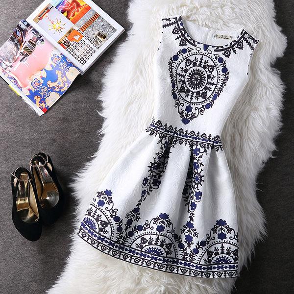 Cheap Korean Floral Printed Vintage Dresses