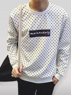 Wholesale Men Dot Pattern Pullover Hoodies