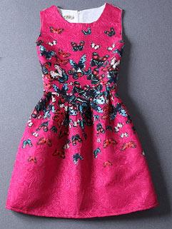 Fashionable Sleeveless Printed Women Dress