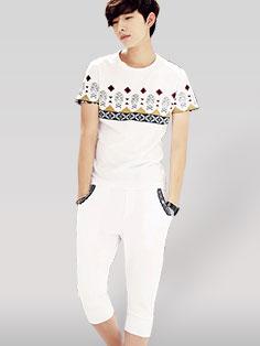 All Match Korean Men Printing Casual Active-wear