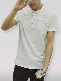 Ethnic Style Short Sleeve Men Tee