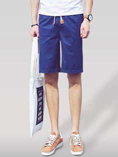Solid Japan Street Lack-Up Pocket Short Pants