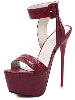 Euro Style Super High Stiletto Heels Sexy Sandals