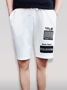 Korean Fashion Letter Printing Short Pants