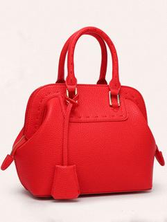 Korean New Solid Color Dumpling Handbags