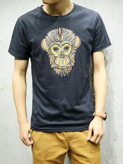 Latest Design Monkey Printed Casual Tee