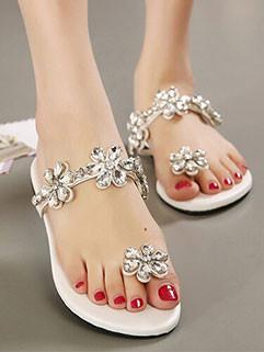 Summer Elegant Diamond Flip-Flop Slipper