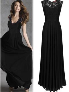 Euro Fashion Floral Hollow Out Long Ladies Dresses