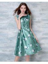 Korean Fashion Floral Sleeveless Slim Pretty Dress