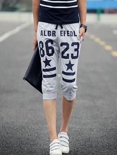 Chic Korean Printed Casual Pants