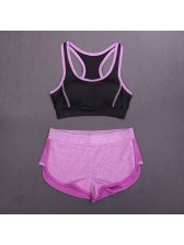 Women Casual Sporty U-Neck Tank With Short Pant