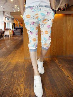 Popular Series Fitted Casual Cropped Pants