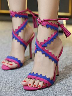 Fantastic Bandage High Heel Patchwork Sandal Pumps