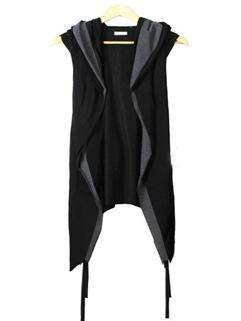 Summer Hooded Neck Cardigan Men Waistcoat
