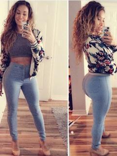 Hot Sale High Waist Stretchable Skinny Women Jean