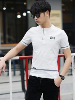 Japan Fashion Letter Stripe Breathable Street T-Shirt