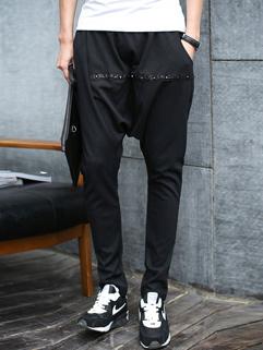 Wholesale Pocket Rivet Patchwork Loose Harem Pants