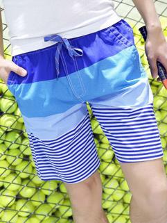 Stripe  Pattern Casual Short Men Pants