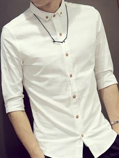 New Arrival Fashion Half Sleeve Slim Men Shirt