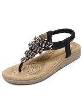Japanese Style Diamond Toe Post Flat Women Sandal