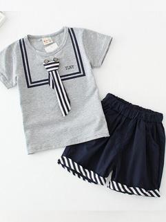 Korean Kids Fashion O Neck Tee With Boy Shorts