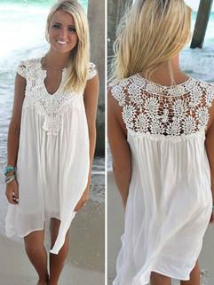 Sexy Fashion Lace Mini Beach Dresses