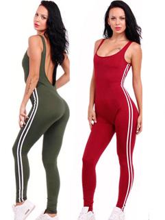 Euro Style U Neck Backless Sexy Woman Bodysuits