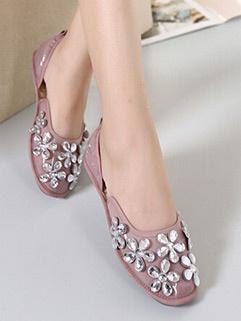 Wholesale Comfortable Diamond Casual Women Flat